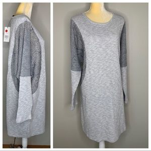 BAR By Melis Kazan Gray Knit Sweater Dress NEW XL